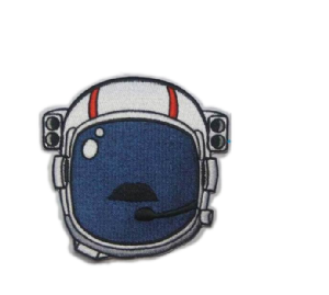 Astronaut Helmet Moustache Patch - Limited Edition